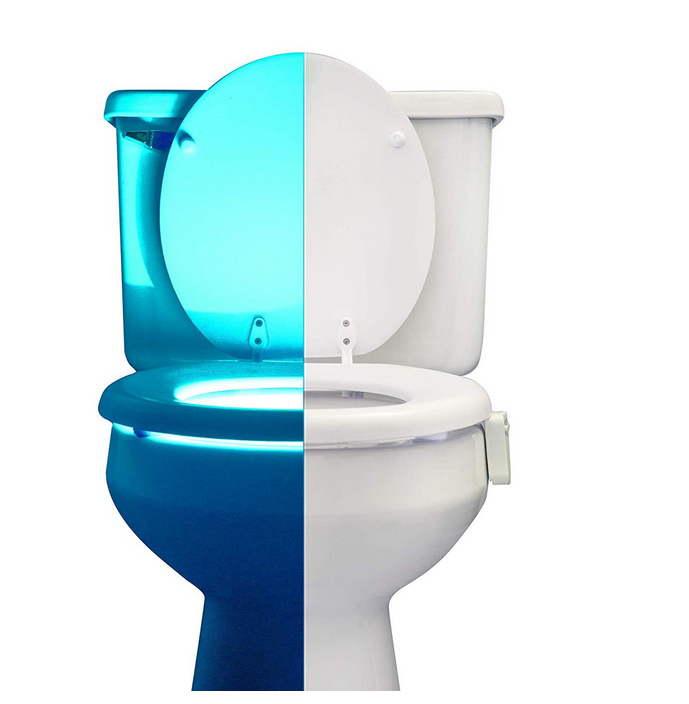 Motion Sensor Toilet Light That Fits On Any Bowl And Can Actually Prevent Falls In The Bathroom There Are Estimated 30000 Injuries Every Year